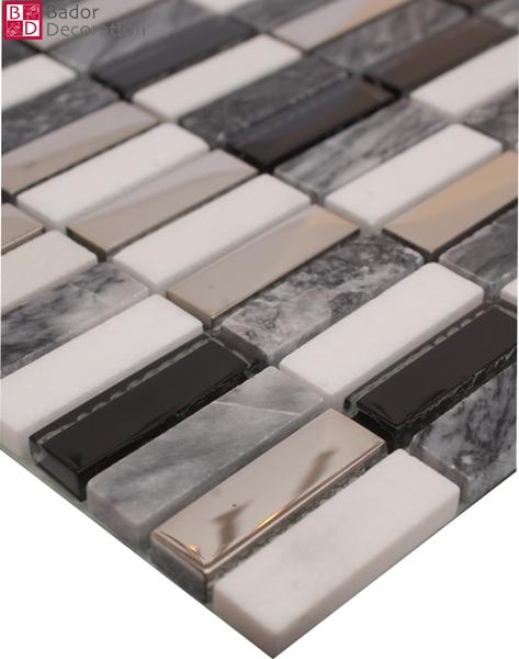 Bagno mosaico nero argento [tibonia.net]