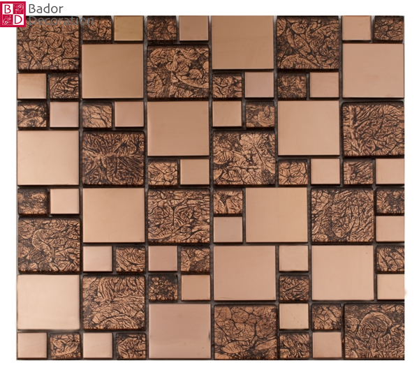 Mosaik glas edelstahlmosaik mosaike fliesen edelstahl for Mosaik fliesen braun