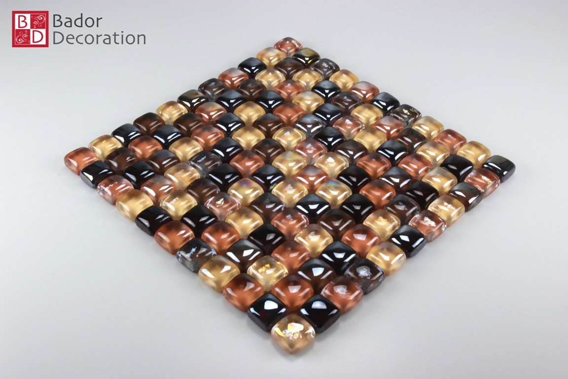 Glasmosaik mosaikfliesen mosaikglas mosaik gelb orange for Spiegel fliesen 30x30