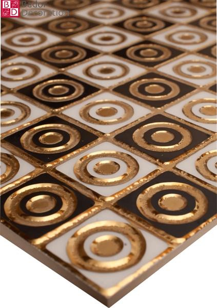 1 matte wandfliesen fliesen keramik gl nzend glasiert blau t rkis gold 30x30 8mm ebay. Black Bedroom Furniture Sets. Home Design Ideas