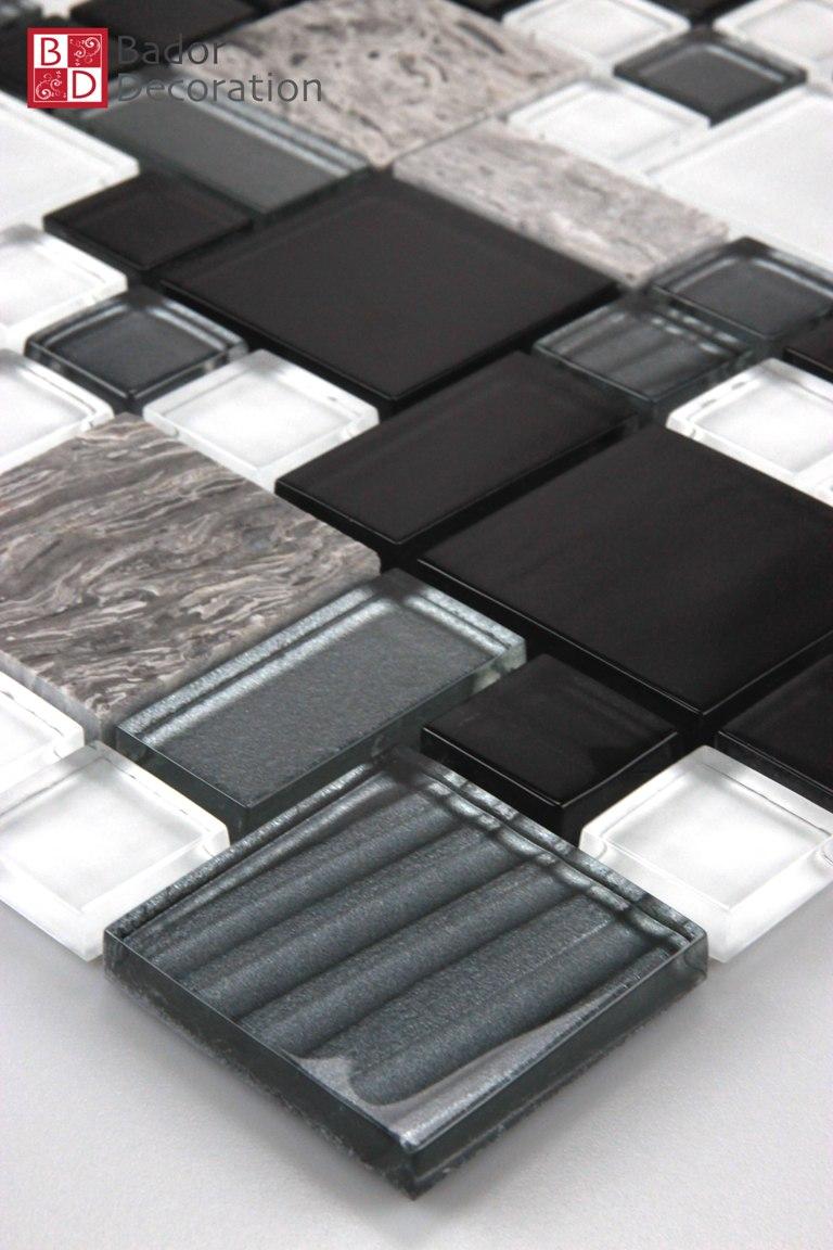 Glasmosaik Marmor Mosaik Mosaikfliesen Mosaike Fliesen Xcm Weiß - Mosaik fliesen größe