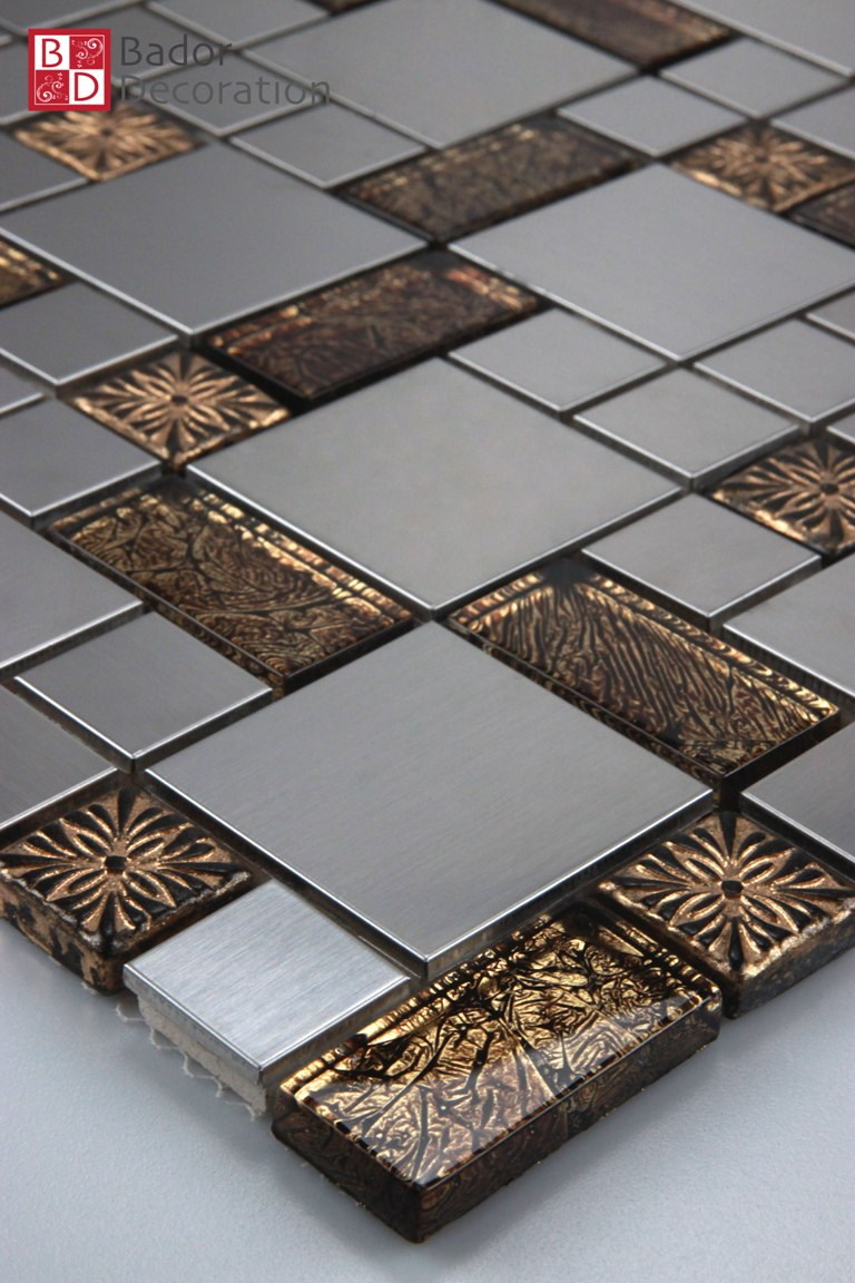 Glasmosaik Mosaikfliesen Fliesenmosaik Mosaik aus Glas schwarz glänzend matt