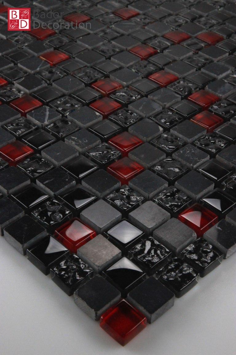Glasmosaik Mosaikfliesen Fliesen Mosaik Glas Marmoriert Xcm - Schwarz marmorierte fliesen